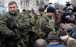 Leader of the Donetsk People's Republic Alexander Zakharchenko