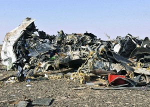 Debris from crashed Russian jet  Sinai  Egypt