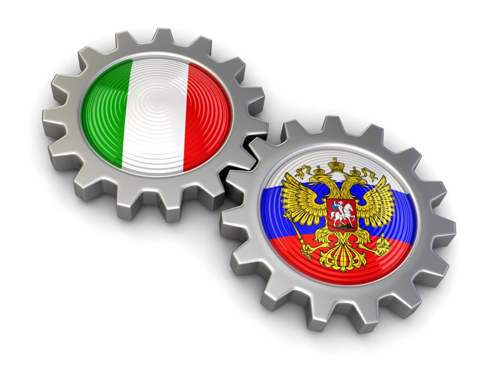 ... Russian and Italian flags on a gears (clipping path included) 455bab53e09