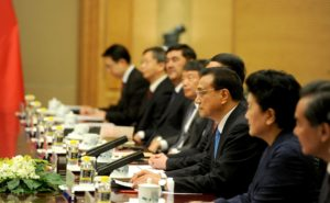 At a meeting with Premier of Chinese State Council Li Keqiang 2