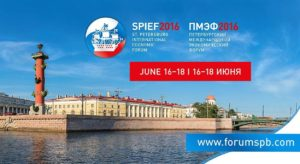 SPIEF - International Economic Forum San Pietroburgo 16-18 Giugno 2016 data
