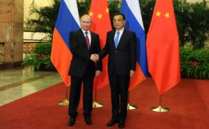 Vladimir Putin with Premier of Chinese State Council Li Keqiang