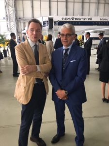 Evgeny Utkin con Nazario Cauceglia alla consegna dei Business Jet Sukhoi alla Royal Thai Air Force - Venezia IT