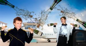 Twitter Outcry After Russian Footballers' Champagne