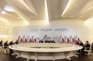 A Trilateral Summit of the heads of state of Azerbaijan, Iran and Russia has been held at the Heydar Aliyev Center in Baku 2