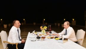 President of the Republic of Azerbaijan Ilham Aliyev has today invited President of the Russian Federation Vladimir Putin to tea at his house  photo AZERTAC