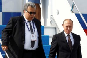 Ex Russian Ambassador to Turkey Andrey Karlov with Vladimir Putin